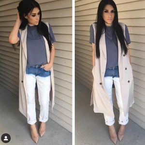 Forever 21 long waistcoat/vest